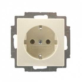 ABB Busch Jaeger concealed 1-slot electricity socket Basic55, grounded, beige, 2CKA002011A3857