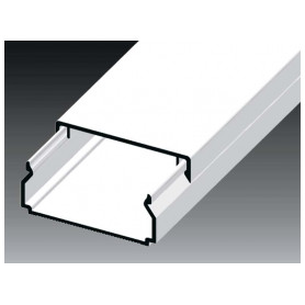 Kopos cable protection channel 40x20mm LHD HD, white, in protective film (lenght 2m, price for 1m)
