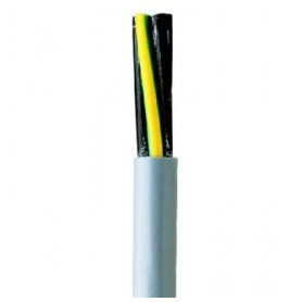 Faber indoor control cable YSLY-JZ 4x1mm², flexible, gray 300/500V, 100m