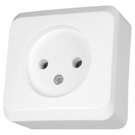 Schneider Electric surface mounted 1-slot electricity socket Prima, white, IP20, WDE001000
