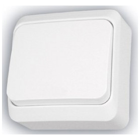 Schneider Electric surface mounted 1 pole switch Prima, white, IP20, WDE001010