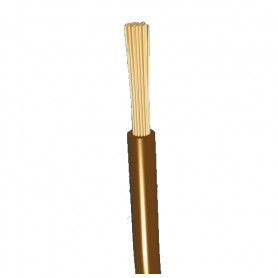 Top Cable flexable electricity cable H07V-K 1x1.5mm², brown 0.45/0.75kV, 100m