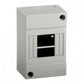 IDE switchboard cabinet Combi 40SP, surface mounted, 4 modules, white, IP40