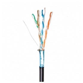 Secnet data cable 4x2x0.5mm Cat5e F/UTP, black, for outdoors, with gel PVC, 500m