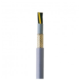 Faber indoor control cable YSLYCY-OZ 2x1mm², flexible, with screen, gray 300/500V