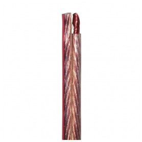 Faber audio data cable YFAZ 2x1.5mm², transparent, with red stripe