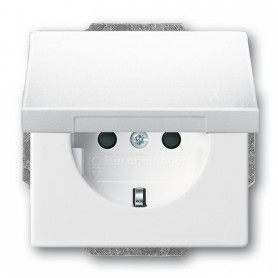 ABB Busch Jaeger concealed 1-slot electricity socket Future Linear, Solo, Carat, with cover, white, 2CKA002018A1509