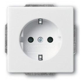 ABB Busch Jaeger concealed electricity socket Future Linear, Solo, Dynasty 84, grounded, white, 2CKA002011A6207
