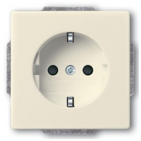 ABB Busch Jaeger concealed electricity socket Future Linear, Solo, Dynasty 82, grounded, ivory