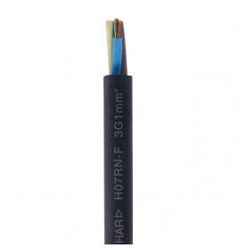 Faber electricity cable H07RN-F 12x1.5mm², with rubber insulation, flexable, black 0.45/0.75kV, from roll