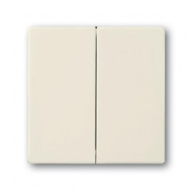 ABB Busch Jaeger socket switch button Future Linear, Solo, Dynasty (1+1) 82, ivory, 2CKA001751A2744