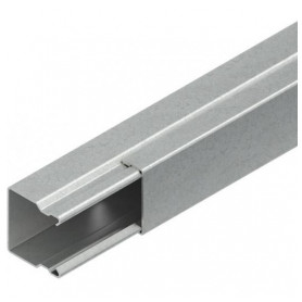 Niedax metal cable protection channel 16x16mm, with lid LLK (lenght 2m, price for 1m)