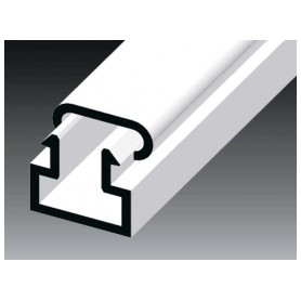 Kopos cable protection channel 11x10mm LV HD, white (lenght 2m, price for 1m)