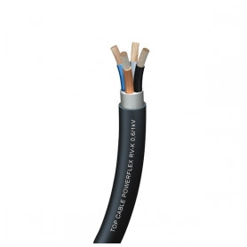 Top Cable outdoor electricity cable PowerFlex RV-K 4x2.5mm², flexable, black 0.6/1kV, from roll