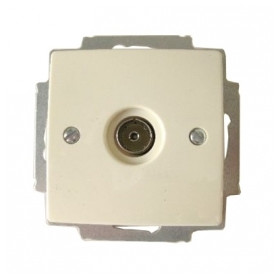 ABB Busch Jaeger antenna end socket Basic55 TV 5-860MHz, with central plate, beige, 2CKA001724A4280