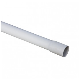 Pipelife smooth cable protection tube D16mm 3m 320N, gray, halogen-free, with extension (price for 1m)