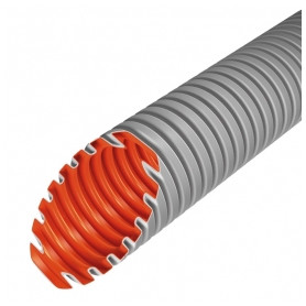 Evopipes corrugated cable protection tube D25mm 320N 50m, light gray EVOEL FL-0H (price for 1m)