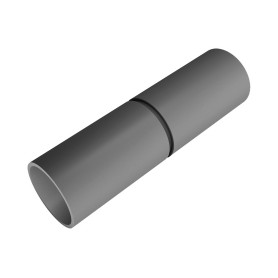 Evopipes cable protection tube connection D25mm, for EVOEL pipes, gray, 40pcs/package