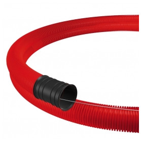Evopipes corrugated double wall cable protection tube D50mm 450N 50m, red EVOCAB FLEX (price for 1m)