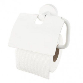 Haceka Kosmos White toilet paper holder with cover 402813