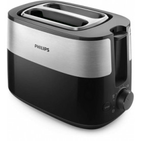 Philips Daily Collection Tosteris, 830 W (melns) - HD2516/90