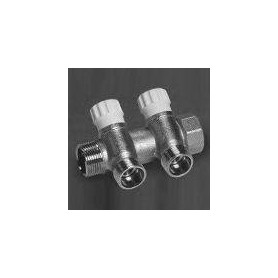 Collector 3/4 x1/2 CP463 3-way with valve