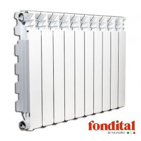 Fondital alumīnija radiators 800x 2sekc. balts Exclusivo