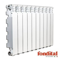 Fondital alumīnija radiators 800x 9sekc. balts Exclusivo