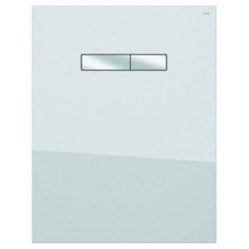 TECElux upper glass build in WC frame button, white/ chrome buttons 9650001