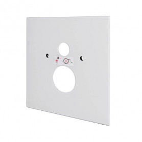 TECElux lower glass build in WC frame button, white 9650100