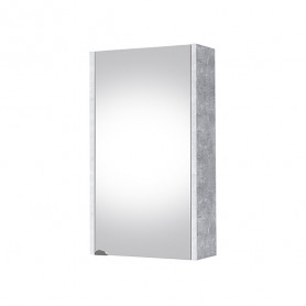 Riva SV 41-11 Concrete Wall Mirrored Cabinet with 1 Door.