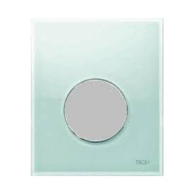 TЕСЕloop build in frame glass urinal button, green, matte chrome button 9242652