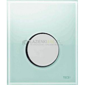 TЕСЕloop build in frame glass urinal button, green glass, chrome button 9242653