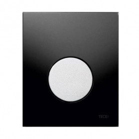 TЕСЕloop build in frame glass urinal button, black, matte chrome button 9242655
