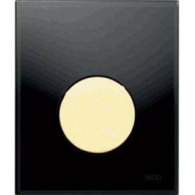 TЕСЕloop build in frame glass urinal button, black, gold button 9242658