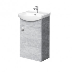 Riva SA 44-11 Concrete Wall Hanging Vanity Unit with 1 Door. For Washbasin RIVA45