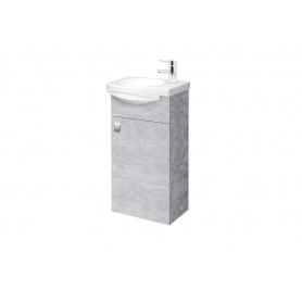Riva SA 40-11 Concrete Wall Hanging Vanity Unit with 1 Door. For Washbasin RIVA40