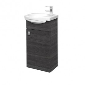 Riva SA 40-11 Rigoletto Anthracite Wall Hanging Vanity Unit with 1 Door. For Washbasin RIVA40