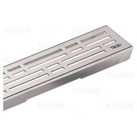 TECEdrainline stainless steel channel type shower trap Basic, polished 700mm, 600710