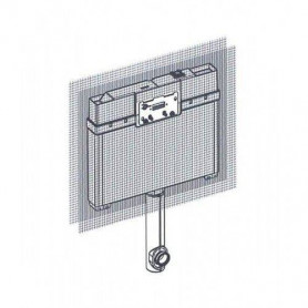 TECEbox 8cm wall mounted WC flushing container with floor mounted WC 9370007, for masonry wall