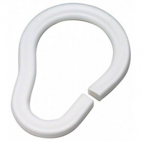 Duschy 681-10 curtain rings, white