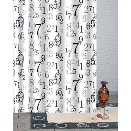 Duschy 623 42 Bathroom Curtain 180x200 Seven With 12 Rings