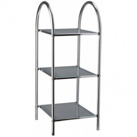 Duschy 543-90 pull out shelf, 3 levels, chrome