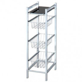 Duschy 547-20 shelf SLIM with black glass shelve and 3 drawers