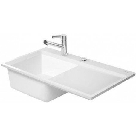 Duravit 7517900000 ceramic kitchen sink kiora 50l white workwithnaturefo