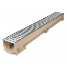 ACO Euroline rainwater channel with galvanized grille 1m 38700
