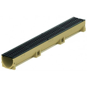 ACO Euroline rainwater channel with cast iron grille 1m 38705