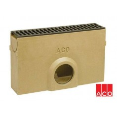 ACO Euroline rainwater channel sand catcher with cast iron grille 38708
