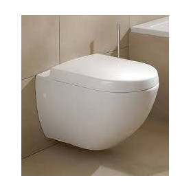 Villeroy Boch Subway hanging WC toilet bowl, with soft close seat 66001001+9955S101
