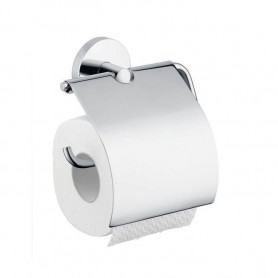 Hansgrohe HG40523000 Logis toilet paper holder with cover, chrome